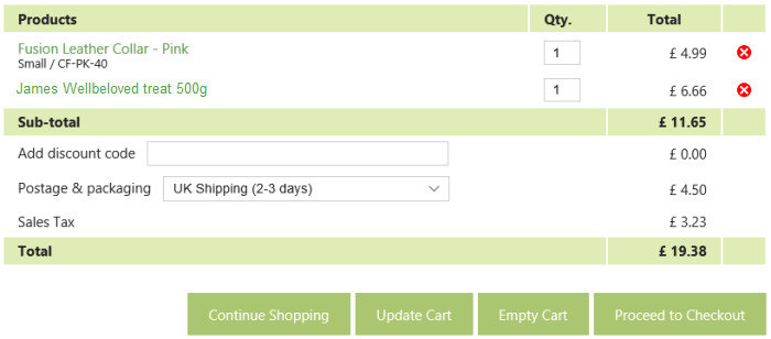 eShop-Systems shopping cart